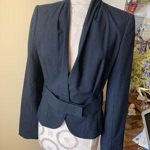 Kenneth Cole blue jacket blazer with belt  6